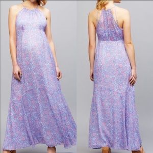 A Pea In The Pod Floral Maxi Maternity Dress